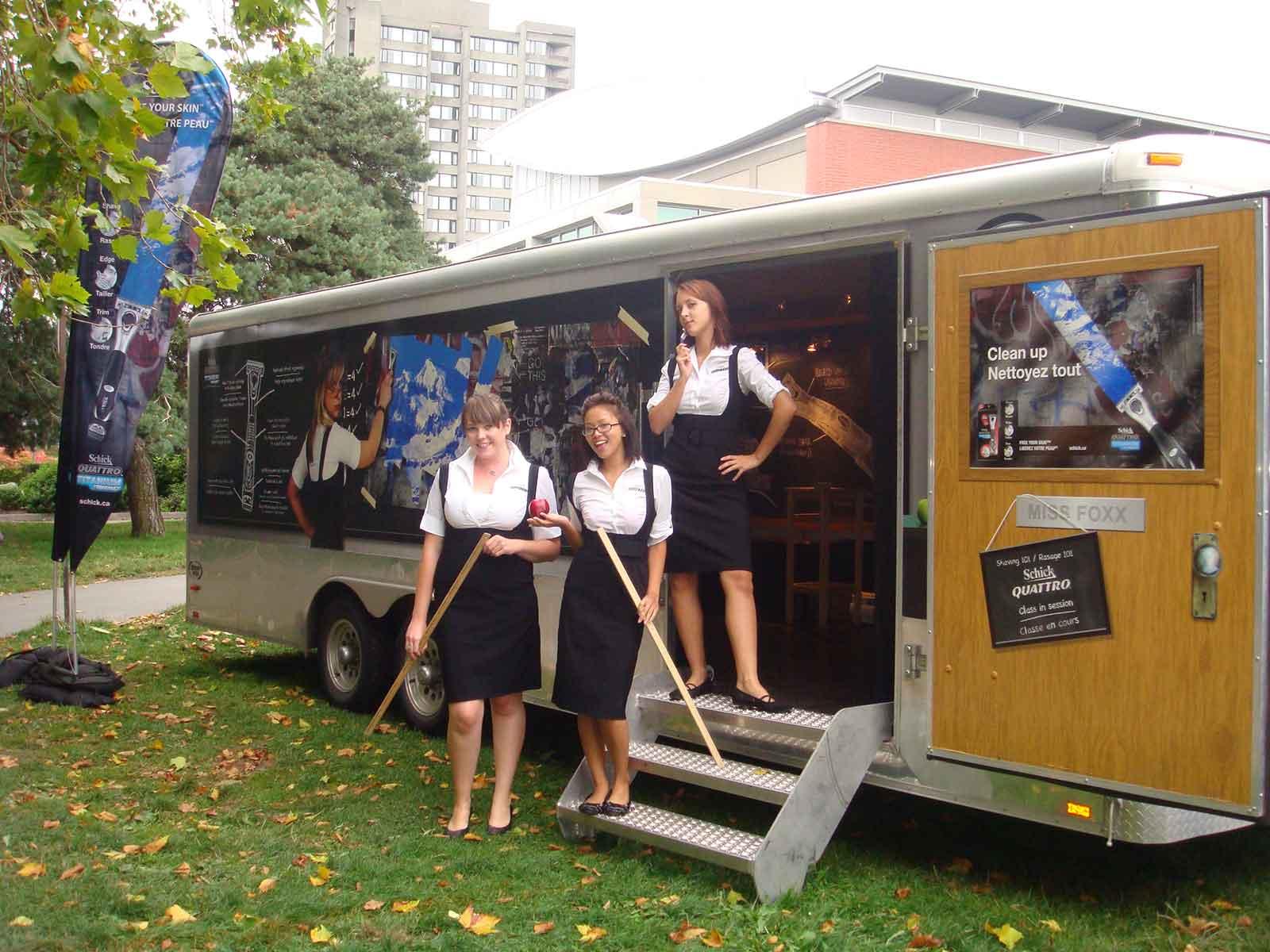 Schick Quattro Mobile Road Tour